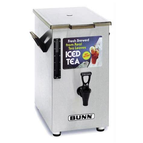 Dispenser Td bunn td4 0003 4 gallon square iced tea dispenser etundra