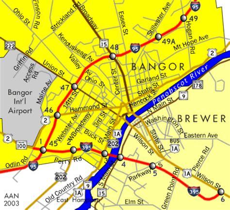 bangor maine map bangor city map bangor maine mappery