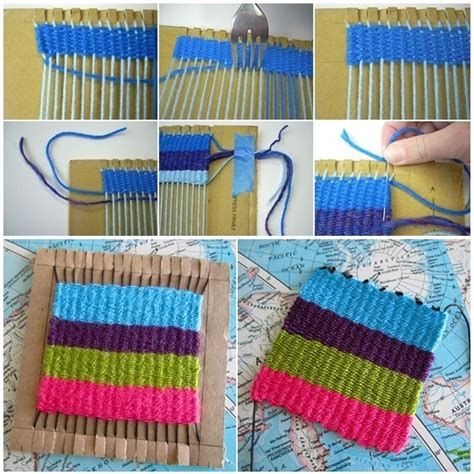 how to weave a rug by how to weave rug with cardboard and fork