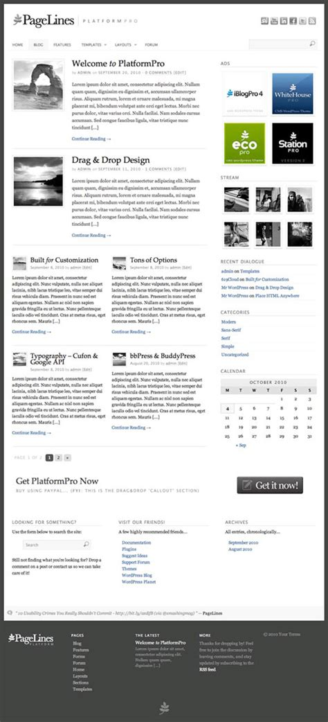 wordpress theme fixed layout platformpro 1 3 wordpress theme framework