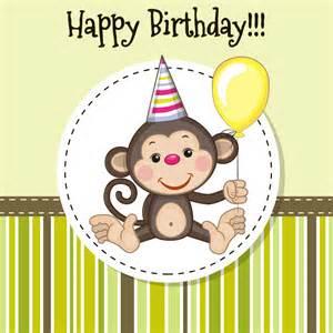 vector monkey birthday cards vector monkey birthday eps free vectors