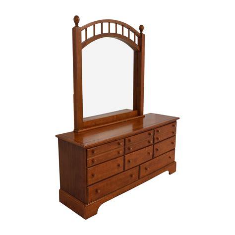 Oak Dresser Mirror by 89 Nine Drawer Oak Dresser With Caged Mirror Storage