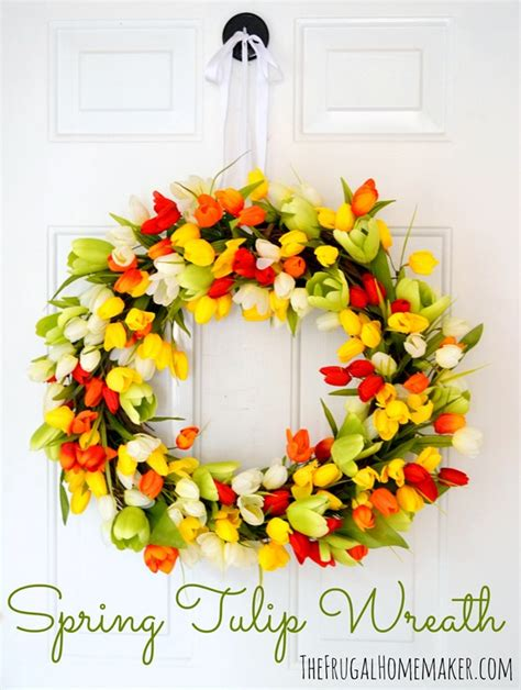 how to make a spring wreath spring tulip wreath make your own wreath tutorial