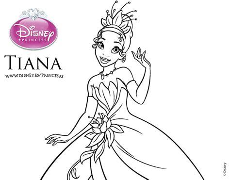 princesas de disney para colorear dibujo de tiana y el sapo princesa tiana para colorear