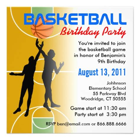 Basketball Birthday Invitations Ideas Bagvania Free Printable Invitation Template 9th Birthday Invitation Templates
