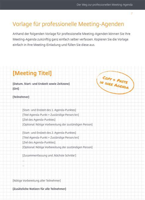 Muster Einladung Meeting g2m de der weg zur professionellen meeting agenda