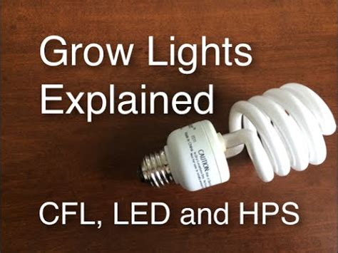 grow lights explained cfl led  hps easy  cheap