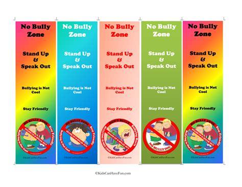 printable bullying bookmarks no bullying bookmarks no bullying don t bully anti