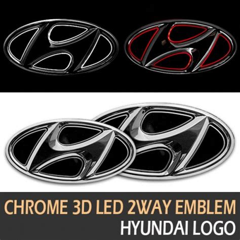 Logo Kap Mesin Chroome Logo Hyundai santa fe the prime ledist hyundai chrome 3d led 2 way emblem package
