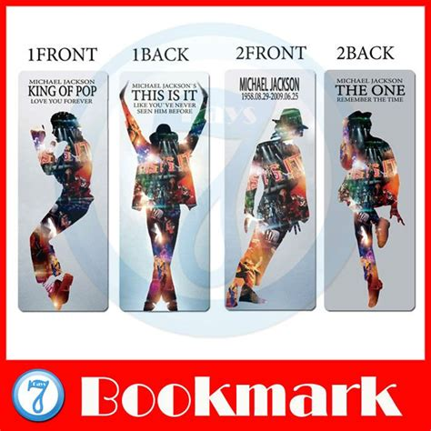 printable michael jackson bookmarks 2pcs set special beauty bookmarks card about king of pop