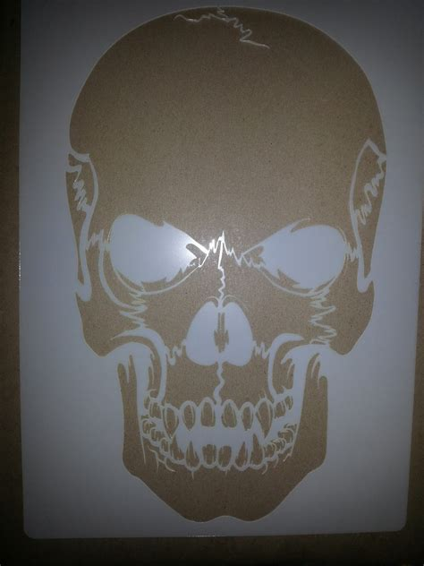 Skull Templates For Airbrushing test try results airsick airbrush stencil templates