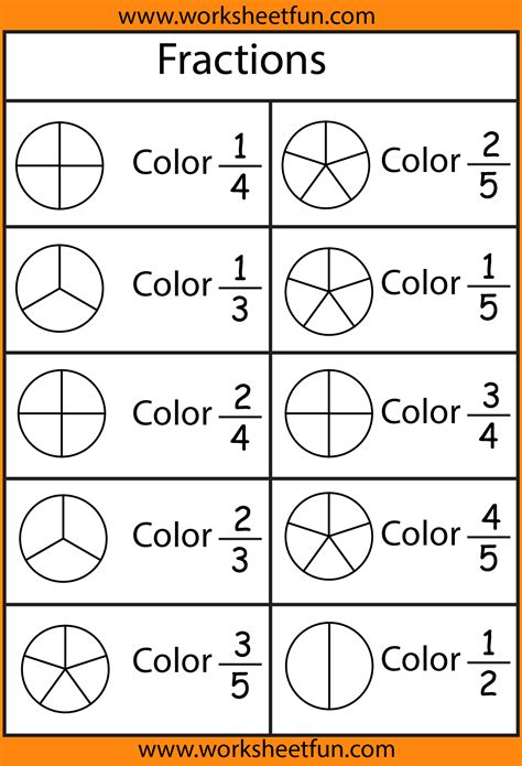 Simple Fractions Worksheets by Basic Fraction Worksheets Resultinfos