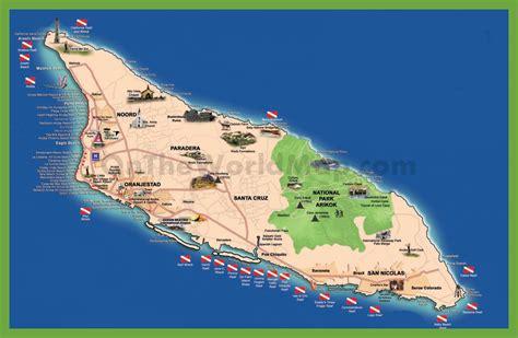 tourist map  aruba