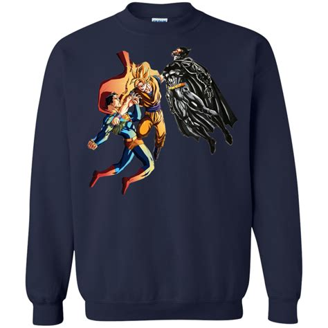 Superman Vs Batman Gildan Tshirt goku vs superman and batman shirt hoodie