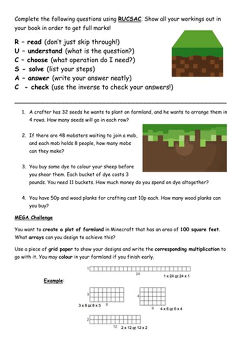 reading training missing 8853005351 minecraft multiplication and division word problems by vcurrie19 teaching resources tes