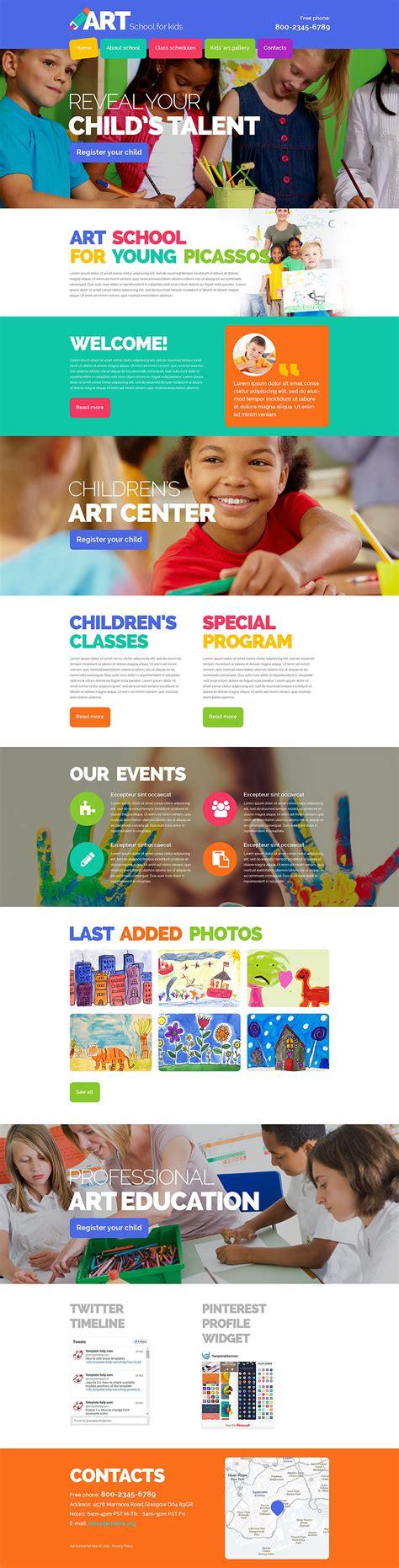 Homepages Design Vorlagen website vorlage 54875 f 252 r kunstschule