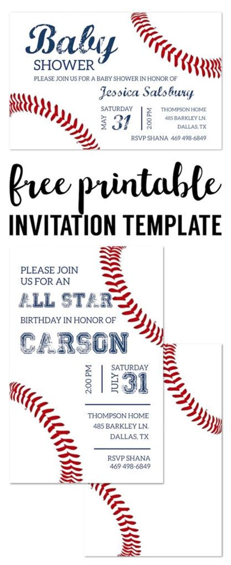 baseball invitation template 25 best ideas about invitations baby showers on