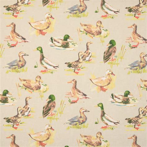 curtain fabric with bird print mallard curtain fabric linen terrys fabrics uk