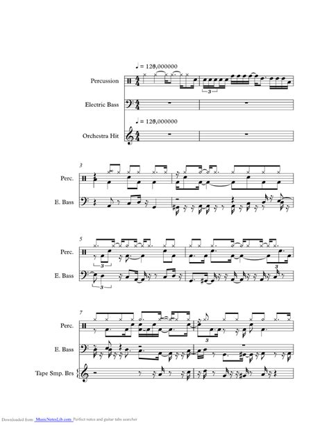brick house sheet and notes by commodores