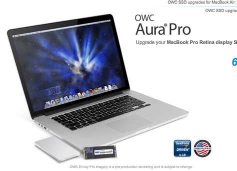 Update Macbook Pro owc launches macbook pro with retina display ssd update a faster 480gb drive 9to5mac