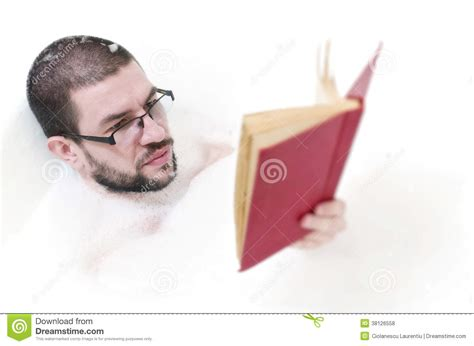the bathtub man bearded man reading in the bathtub royalty free stock photos image 38126558