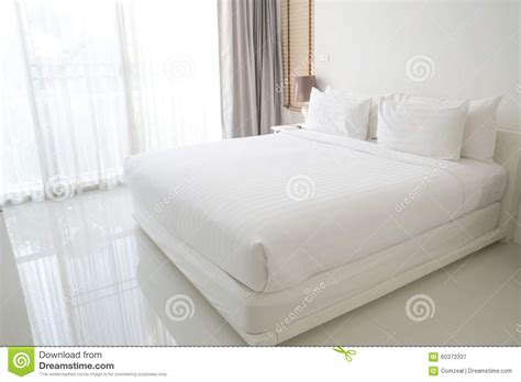 white bed pillows white bed sheets and pillows stock photo image 60373337