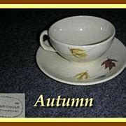 Autumn Backroom by Iroquois Casual White Russel Wright Coffee Cup Saucer