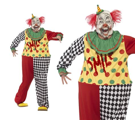 Clown L by Sinister Clown Costume Mens Fancy Dress Costume M L
