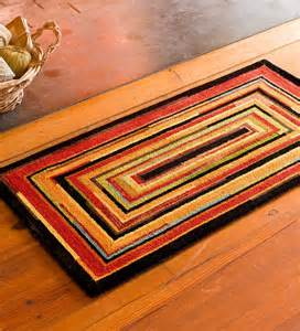 hooked wool concentric squares hearth rug hearth rugs