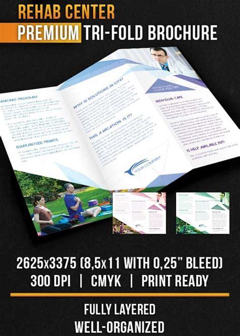 Detox Center Crossword by Rehab Center Tri Fold Brochure Psd Templat Downloads