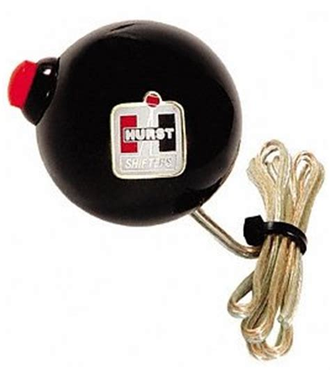 B M Shifter Knob With Button by Hurst 1630069 Black Sidewinder Shifter Knob