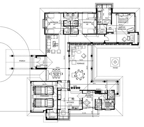 hacienda style homes floor plans en house b floorplant the best place to live in panama