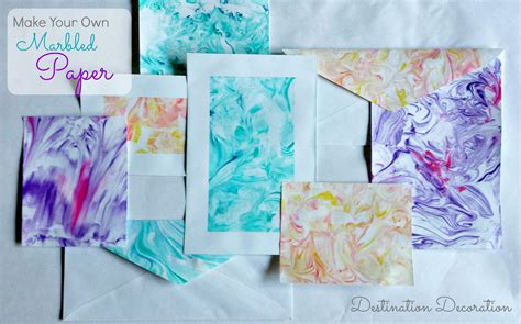 Make Marbled Paper - paper marbling using