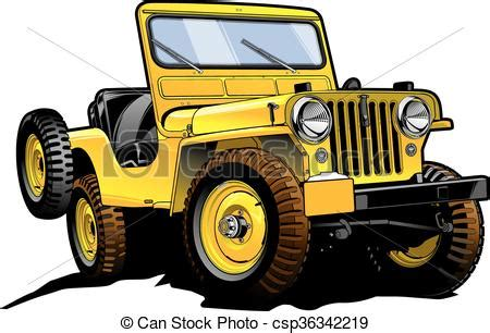 yellow jeep clipart retro jeep really great vector drawing of offroad willy s