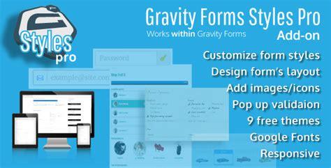 gravity forms styles pro add on v2 4 2 187 premium scripts