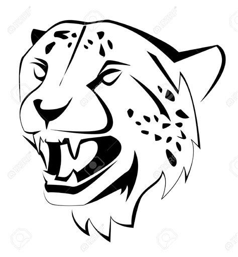 cheetah mask coloring page cheetah face clipart 47