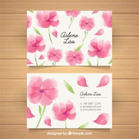 biglietti con fiori biglietto da visita con fiori di acquerello scaricare