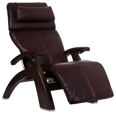 Zero Gravity Recliner Leather Human Touch Omni Motion Classic Premium Leather Zero Gravity Walnut Recliner Espresso
