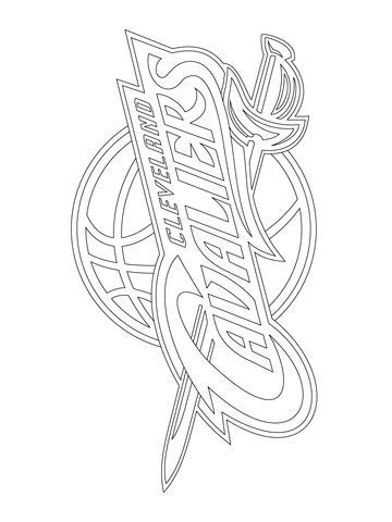 cleveland cavaliers logo coloring page  nba category