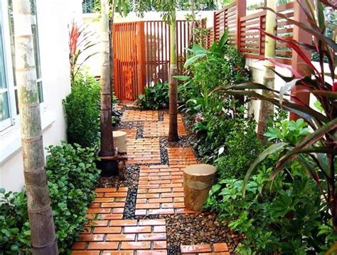 landscape ideas for side of house garden design walkway pavers gravel lines side yard