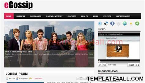 gossip celebrity magazine blogger template freethemes4all