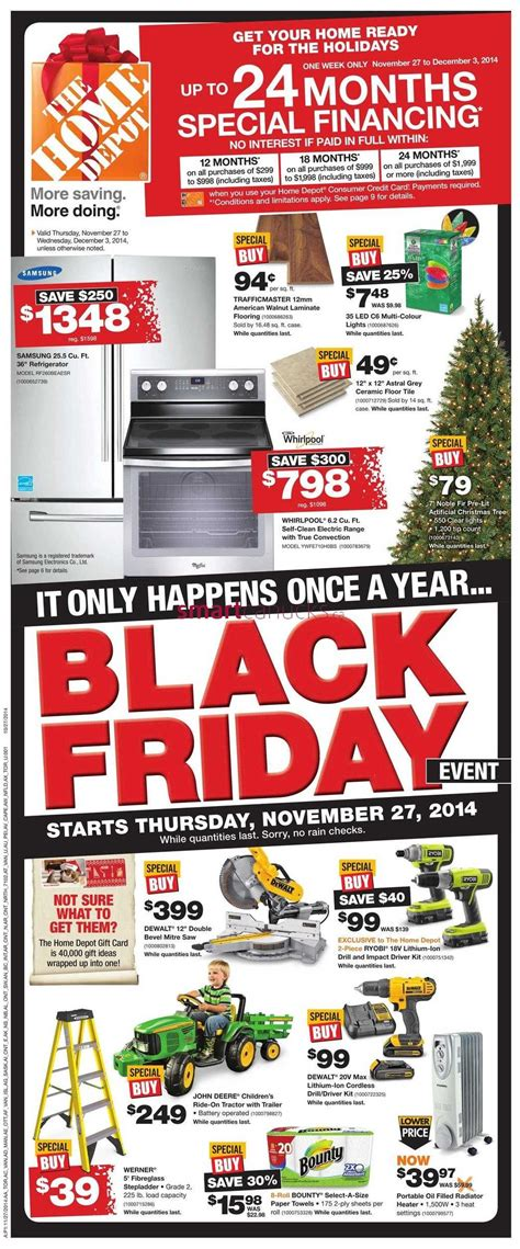 home depot on black friday 2014 flyer november 27 to