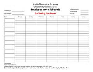 Free Printable Work Schedule Template 20 Hour Work Week Template Employee Work Schedule For
