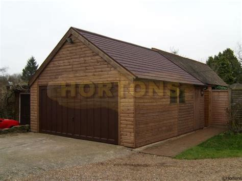 How To Build Wooden Garage by Framed Wooden Garages Hortons Portable Buildings