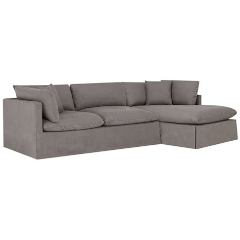 gray fabric sectional with chaise city furniture raegan gray fabric right chaise sectional