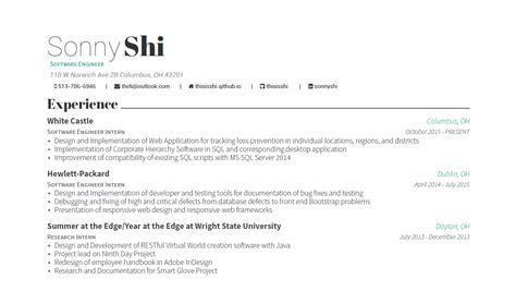 Resume Template Github by Github Resume Resume Ideas
