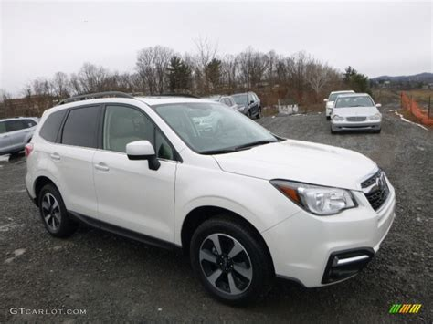 subaru forester 2017 white 2017 crystal white pearl subaru forester 2 5i limited