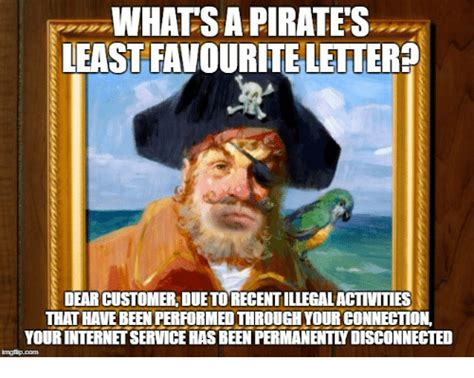 Whats An Internet Meme - whats a pirate s least favourite letter dear customer due