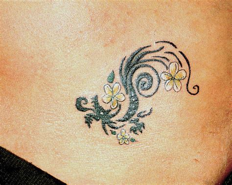 small flower vine tattoos 35 overwhelming hawaiian flower tattoos creativefan