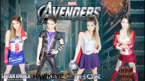 diy marvel avengers halloween costumes easy girl group